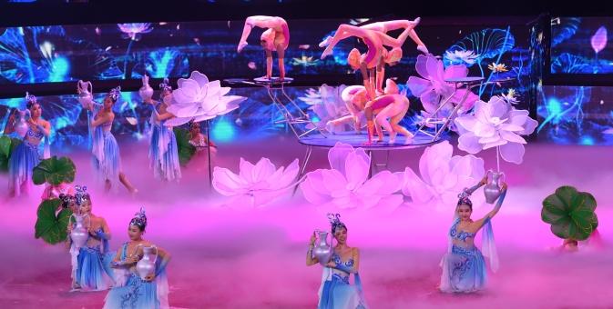 第十七届中国吴桥国际杂技艺术节在石家庄开幕