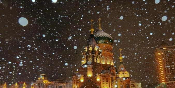 哈尔滨迎降雪