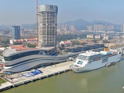 全國單體規模最大廣州南沙新國際郵輪母港今日開港