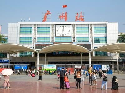 廣州火車站提質改造進行時,雨棚已初具規模