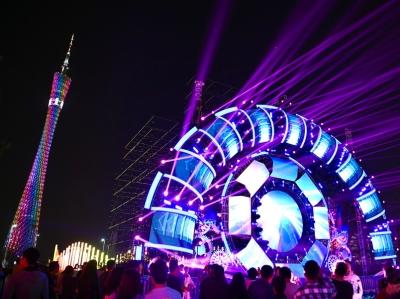 廣州國際燈光節正式開幕 璀璨燈光照亮花城廣場