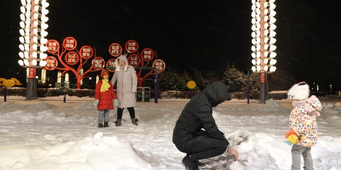 雪降内蒙古莫力达瓦旗