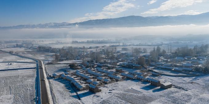 飞瞰大凉山雪景