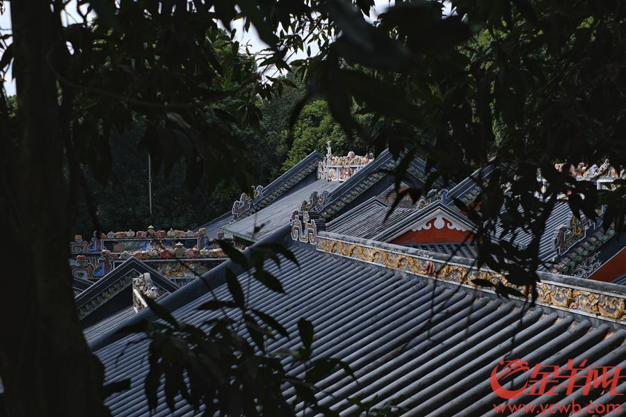 """玉喦书院,也称玉岩书院,位于广州市黄埔区萝岗街萝峰山麓,广州街坊多称""""萝峰寺"""",始建于南宋,至今已有八百余年历史,是广州最古老的书院。闭门修缮6年后,今年5月1日,书院重新开放,吸引不少街坊到来。这两日(10日),羊城天清气朗,暖阳丝丝缕缕,古老的书院别具韵味。山下就是""""萝岗香雪"""",再过20天,闻香赏梅又是另一番景致。文/图 金羊网记者  陈秋明"""