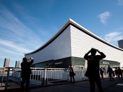 日本有明体育馆建成开放 用于举办排球和轮椅篮球赛