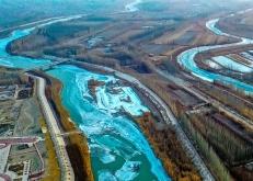 新疆:開都河冰化開河