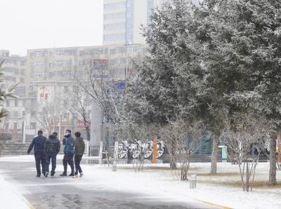 青海西寧迎來首場春雪