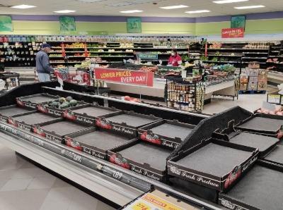 旧金山湾区出行禁令实施首日 超市多种商品供不应求