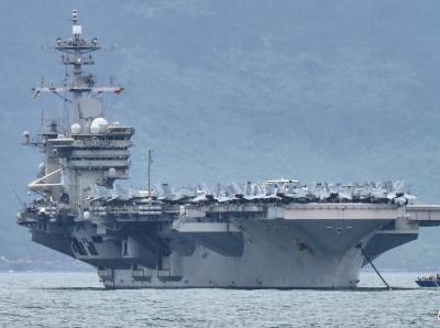 """美国""""罗斯福""""号航母三名水兵确诊感染新冠病毒"""