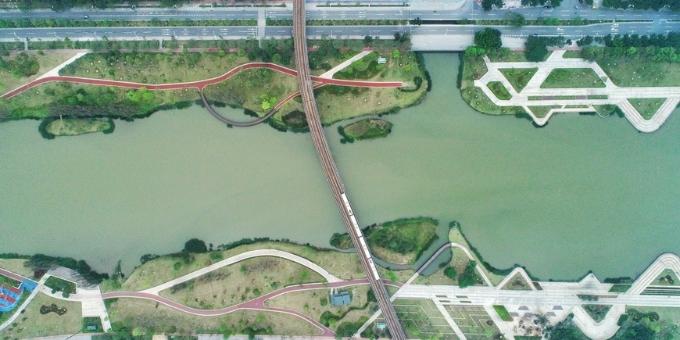 广州南沙滨海绿道蕉门公园:滨水绿道相映成景