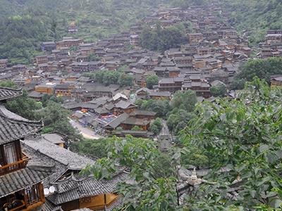 贵州西江民居 独特的苗族古建筑村落