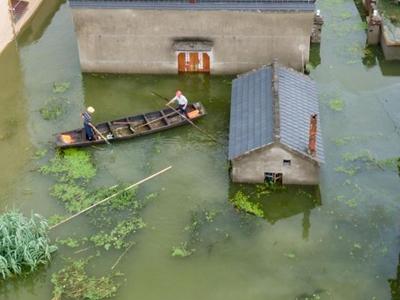 南京石臼湖水位持续上涨