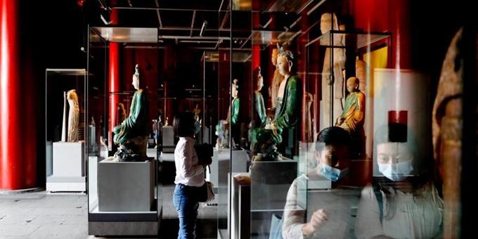 关闭177天后故宫博物院开放室内展厅