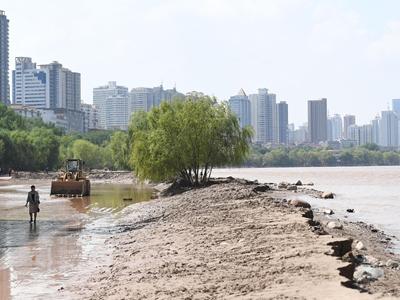 黄河兰州段水位大面积回落