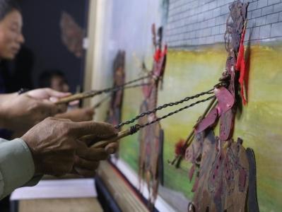 河北邯郸:皮影戏迎双节