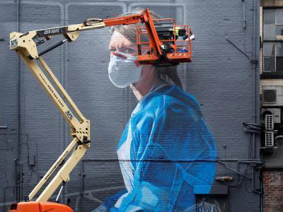 英国曼彻斯特街头壁画致敬医务工作者