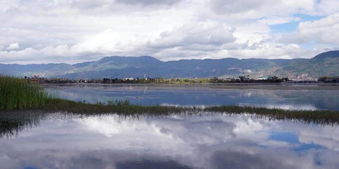 云南保山青华海国家湿地公园展现人与自然和谐画卷