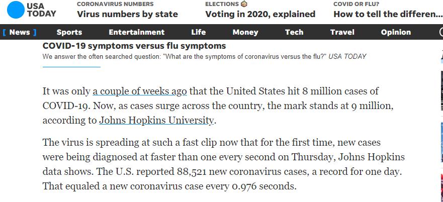 环球深观察丨不到1秒确诊1例!美国疫情几近失控的原因何在?