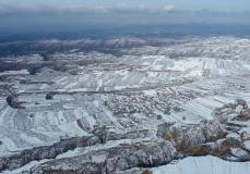 山西吉县:黄土高原雪景如画