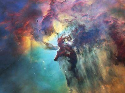 NASA发布太空中新生恒星照片