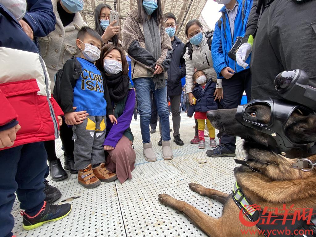 2021年1月10日是首个中国人民警察节。上午,广州市公安局在海心沙亚运公园举办的警营开放日活动拉开帷幕。羊城晚报全媒体记者 陈秋明 摄