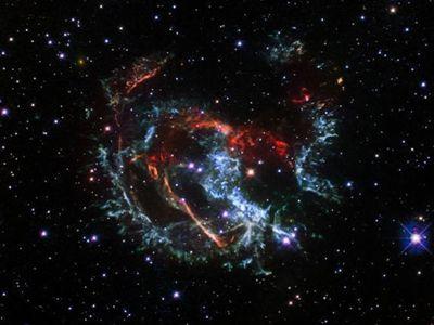 欧洲航天局发布超新星遗迹照片