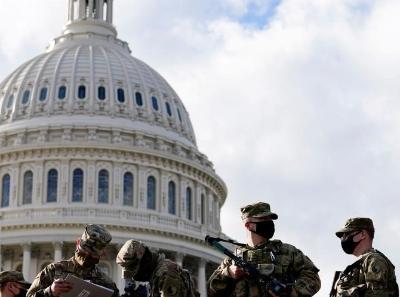 美国新任总统就职典礼在即 首都中心地带安保严密