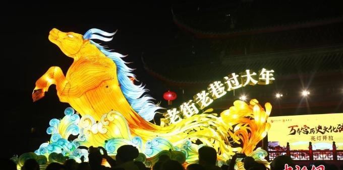 南昌万寿宫历史文化街区亮灯试运营