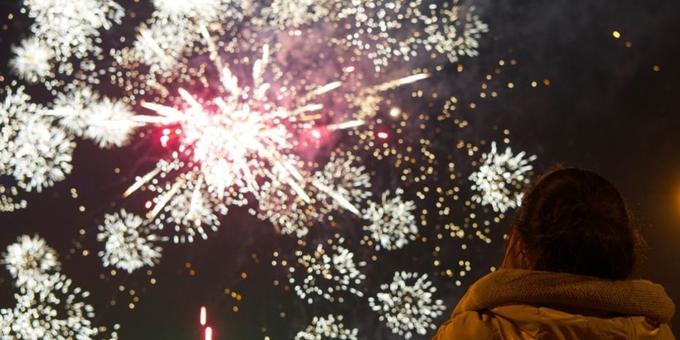 北京市民迎接牛年新年到来