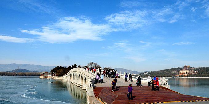 北京颐和园春光明媚游人如织