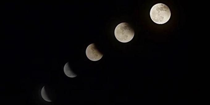 """看,广州夜空上演""""超级吃月亮"""""""