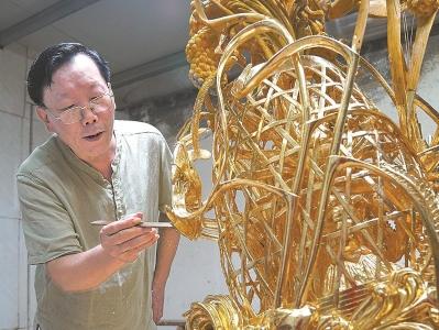 潮州木雕省级代表性传承人金子松:让年轻木雕人接过创作棒